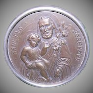 ART DECO Religious Icon - Saint Joseph, Infant Jesus, Made in Germany