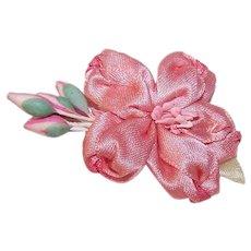 Vintage FRENCH REVIVAL Ribbonwork - Pink, Floral, Sugar Pips