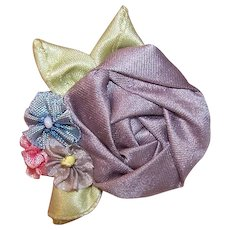 Vintage FRENCH REVIVAL Ribbonwork - Floral Spray, French Ombre, Silk