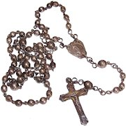 Vintage STERLING SILVER Rosary - Mexican Silver