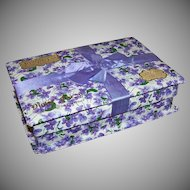 Edwardian Candy Box - LOWNEYS Chocolates, Violets, Original Ribbon