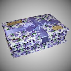 Edwardian Candy Box - LOWNEYS Chocolates, Violets, Original Ribbon