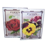 The Old Print Factory - Pair of Unopened Packaged Sachets - Poppy and Pansy