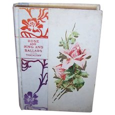 Rose & Ring and Ballads by Thackeray - Book with Catherine Klein Pink Roses Cover