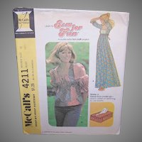 Vintage GRANNY DRESS Pattern - McCalls 4211, Grranny Blouse
