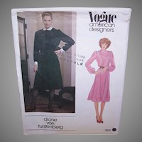 Vintage MISSES DRESS Pattern - Vogue American Designer 2632, Diane Von Furstenberg