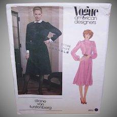 Vintage MISSES DRESS Pattern - Vogue American Designer 2632, Diane Von Furstenberg