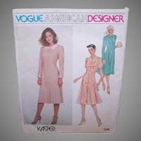 Vintage MISSES DRESS Pattern - Vogue American Designer 2396, Kasper