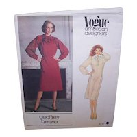 Vintage MISSES DRESS Pattern - Vogue American Designer 2727,  Geoffrey Beene