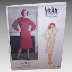 Vintage MISSES DRESS Pattern - Vogue American Designer 2727,  Geoffrey Beene