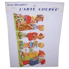 Vintage SUSAN ALEXANDER Die Cuts - FAS, West Germany, Children