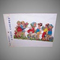 Vintage SUSAN ALEXANDER Die Cuts - West Germany Origin, School Children, Lamb, Dog