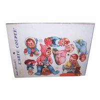 Vintage SUSAN ALEXANDER Die Cuts - Germany, FAS, 3122, Babies, Infants