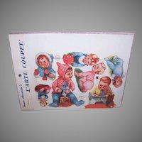 Vintage SUSAN ALEXANDER Die Cuts - Germany, FAS, 3122, Babies, Infants