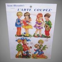 Vintage SUSAN ALEXANDER Die Cuts - Germany, PZB, 1400, Children, Couples