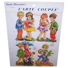 Vintage SUSAN ALEXANDER Die Cuts - Germany, PZB, 1400, Children, Couples