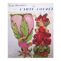 Vintage SUSAN ALEXANDER Die Cuts - German Maker, 3079, Flower, Fairies
