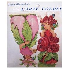 Vintage SUSAN ALEXANDER Die Cuts - German Maker, 3079, Flower, Fairies