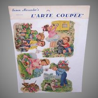 Vintage SUSAN ALEXANDER Die Cuts - Germany, FAS, 3165, Children With Dogs