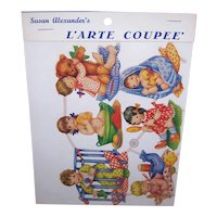 Vintage SUSAN ALEXANDER Die Cuts - Germany, PZB, Children, Bathtime, Teddy Bear