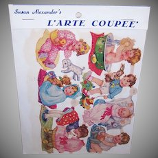 Vintage SUSAN ALEXANDER Die Cuts - Germany, FAS, 3136, Babies, Infants