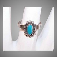 Vintage Bell Trading Post Sterling Silver Turquoise Ring