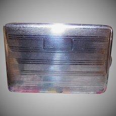 Vintage STERLING SILVER Cigarette Holder - Ronson, Gold Wash Interior, Guilloche, Engraveable Shield