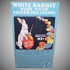 Vintage EASTER EGG Dye Packet - White Rabbit, Four Colors