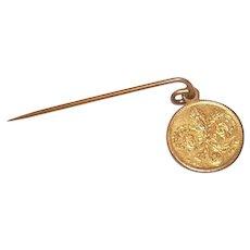 C.1904 St. Louis Worlds Fair Souvenir - Stick Pin, Napoleon Bonaparte, Thomas Jefferson