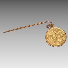 C.1904 St. Louis Worlds Fair Souvenir - Stick Pin, Napoleon Bonaparte, Thomas Jefferson