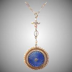 French 18K Gold Diamond Necklace