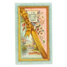 ANTIQUE VICTORIAN Trade Card - New Home Sewing Machine Co