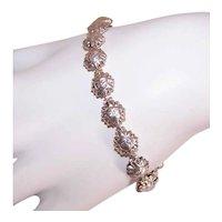 Made in Italy Italian Sterling Silver Celestial Sun Face Link Bracelet