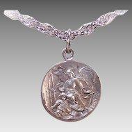 Vintage SILVERPLATE Charm - Religious, Saint Joseph, Infant Jesus, Guardian Angel