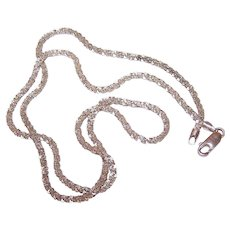 "Vintage SILVERPLATE Chain - 20"", 2mm, Crinkle Cut, 8.5 Grams"