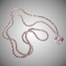 """Vintage SILVERPLATE Chain - 20"""", 2mm, Crinkle Cut, 8.5 Grams"""