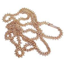 "Vintage 14K GOLD Chain - Victorian, Etruscan Revival, 31"", 37.1 Grams"
