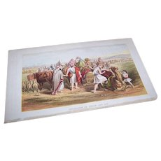 VICTORIAN COLOR PRINT - Book Illustration, Separation of Abram and Lot