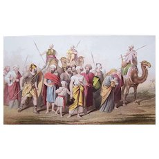VICTORIAN Chromolithograph - Religious, The Reubenites Carried Into Captivity