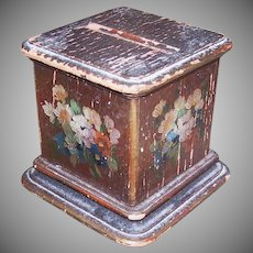 ART DECO Cigarette Holder - Pedestal, Handpainted, Florals, Shabby Chic, Doll Stand