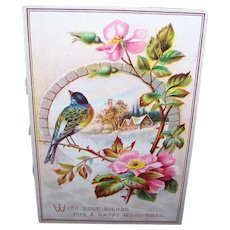 Vintage paper vintage collectibles greeting cards recently sold on victorian greeting card bluebird winter scene happy christmas m4hsunfo