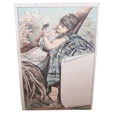 VICTORIAN Trade Card - Eliza Weathersby, Burlesque Performer, Unused