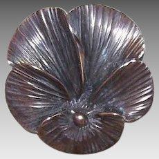 Vintage STERLING SILVER Pin - Stuart Nye, Pansy