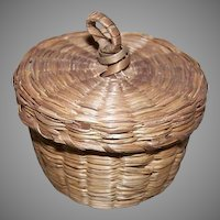 Vintage SWEET GRASS Basket - Small with Handle