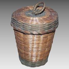 Vintage SWEET GRASS Basket - Medium with Handle