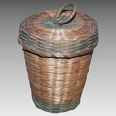 Vintage SWEET GRASS Basket - Medium with Handle