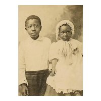 Vintage Cabinet Card - Brother and Baby Sister