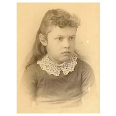 VICTORIAN Cabinet Card - Portrait of a Young Girl