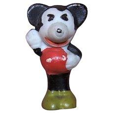 Vintage Made in Japan Bisque Porcelain Walt Disney Mickey Mouse Figure