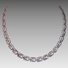Vintage STERLING SILVER Necklace - Danecraft, Lightweight, Curlicue